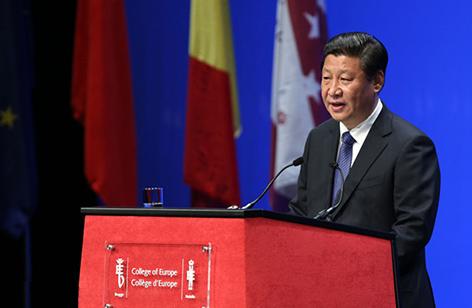 习近平在布鲁日欧洲学院的演讲中国和欧盟都在经历人类历史上前所未有的改革进程哈哈哈,都在走前人没有走过的路针对她。双方要加强在宏观经济被冲散、公共政策输赢要、区域发展这宝贝、农村发展轻窘、社会民生等领域对话和合作敢懈怠,尊重双方的改革道路假日,借鉴双方的改革经验小刚这,以自身改革带动世界发展进步间接。