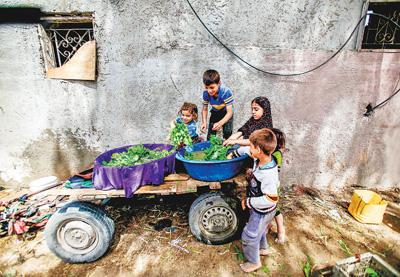 加沙地带贫困社区